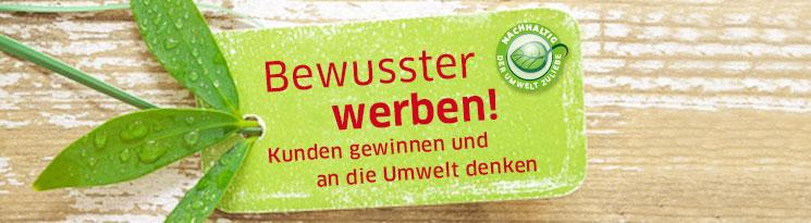 Ihr Logo auf nachhaltigen Werbemitteln geben dem Beschenkten ein gutes Gefühl - Qualitätswerbeartikel im Saalfrank Onlineshop