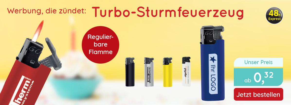 Turbo-Sturmfeuerzeug – Saalfrank Qualitäts-Werbeartikel