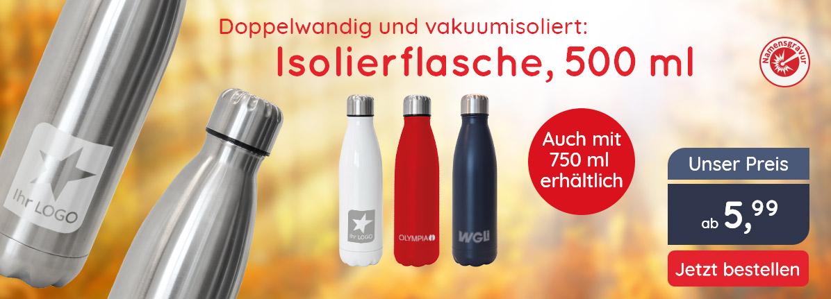 Vakuum-Isolierflasche 500 ml – Saalfrank Qualitäts-Werbeartikel