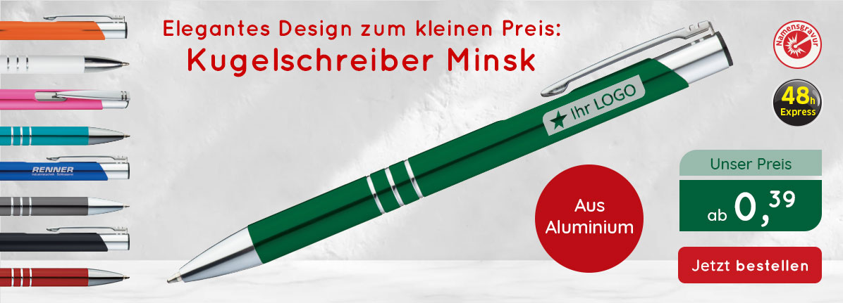 Metall-Kugelschreiber Minsk – Saalfrank Qualitäts-Werbeartikel