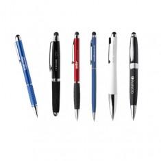 Touch Pen Kugelschreiber mit Logo bei Saalfrank bereits ab Kleinstmengen bedrucken lassen
