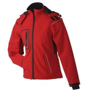 Original James   Nicholson Softshell-Jacke für Damen Rot   L 422f124d40