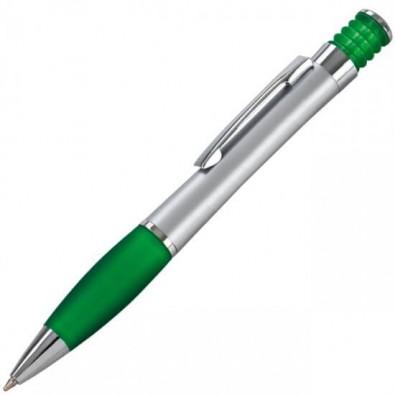 LANCE Druckkugelschreiber Nevada Silber/Grün