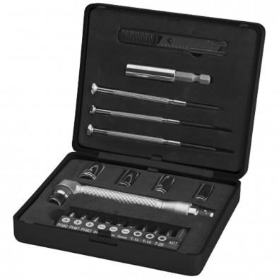 20 teilige Werkzeugbox, schwarz