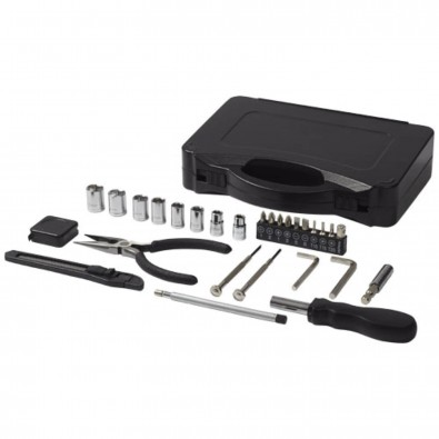 28 teiliges Werkzeugset, schwarz