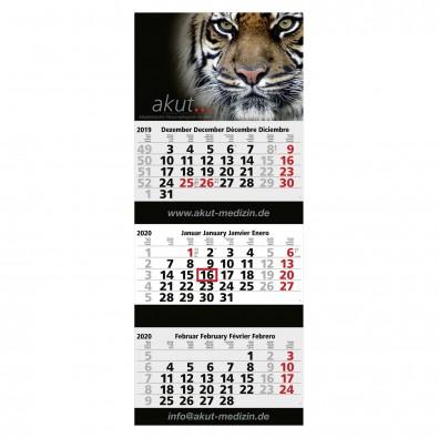 Premium 3-Monats-Block-Wandkalender Blick 2020