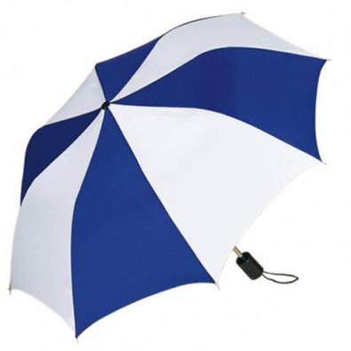 Taschenschirm, Blau/Weiß
