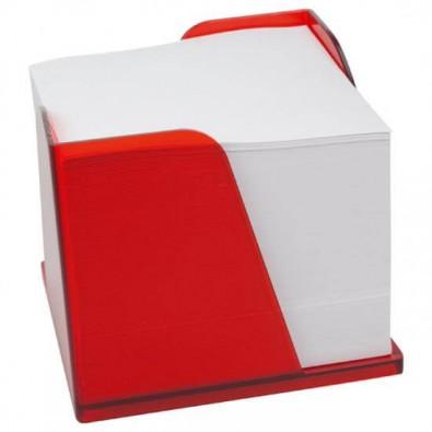 Zettelbox Pfiff - Notizquader, Rot-gefrostet
