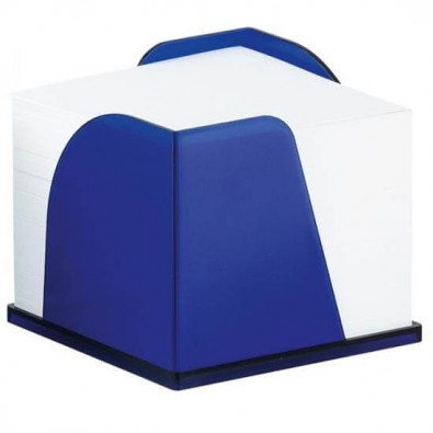 Zettelbox Pfiff - Notizquader, Blau-gefrostet