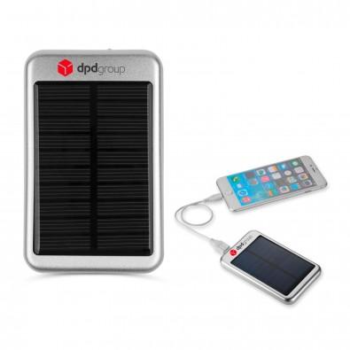4000 mAh Bask Solar Powerbank, silber