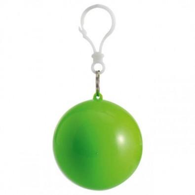 Notfallponcho im Kunststoffball Apfelgrün