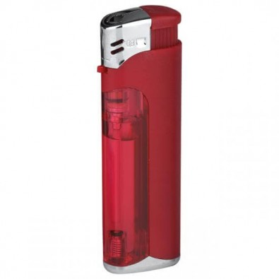 Piezo-LED-Feuerzeug Light  Fire, Rot/Matt