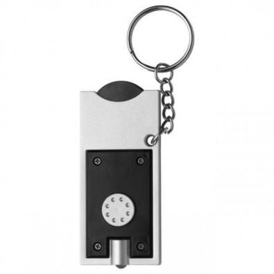 Schlüsselleuchte mit Einkaufswagenchip, Schwarz