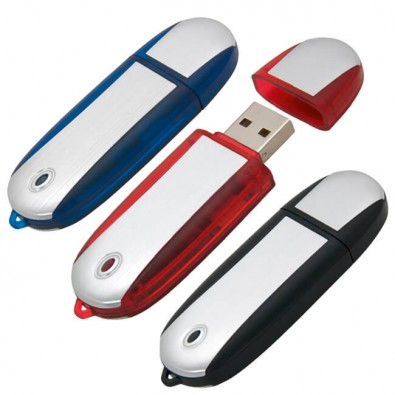 USB-Stick Aluline Blau | 4GB