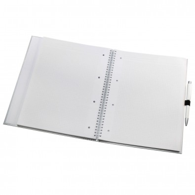 Schreibmappe Work:Book, Silber-glänzend, DIN A4