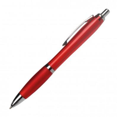 Kugelschreiber Rio, Rot/Transparent