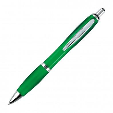 Kugelschreiber Rio, Grün/Transparent