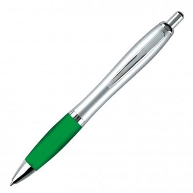 Kugelschreiber Rio Satin, Silber/Grün