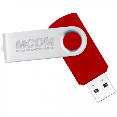 USB-Stick in Metallbox, Rot, 8 GB