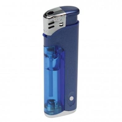Piezo-LED-Feuerzeug Light  Fire, Blau/Matt