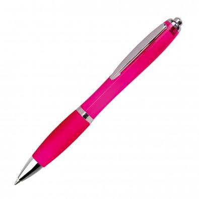 Kugelschreiber Rio, Magenta/Transparent