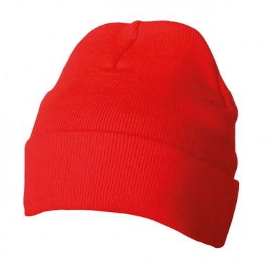 Strickmütze Rot
