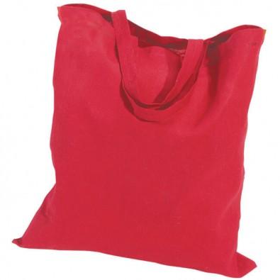Baumwolltasche, kurze Henkel, Rot, 4-farbig bedruckbar