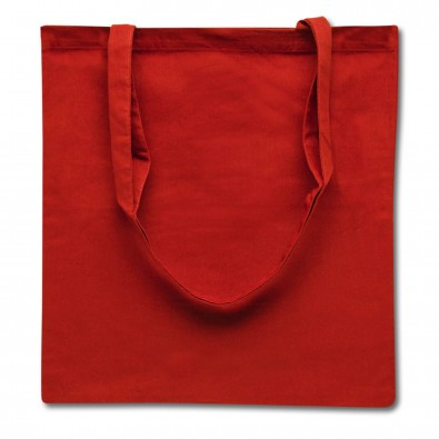 Baumwolltasche, lange Henkel, Rot