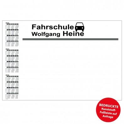 Schreibunterlage mit Kalender links   inkl. 1-farbigem Druck