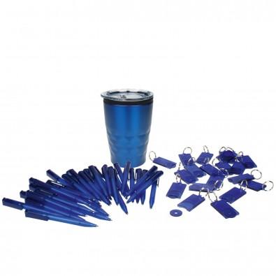 Werbe-Sparset 201-tlg. Kugelschreiber + Schlüsselanhänger, Blau