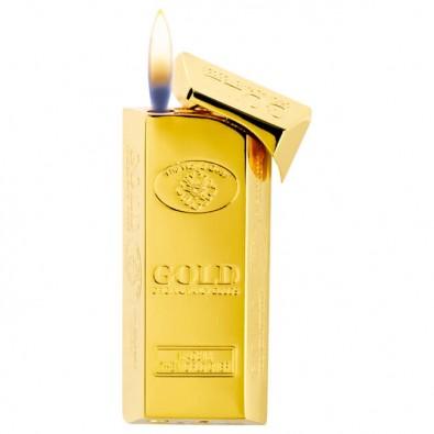 Feuerzeug Goldbarren, Gelb