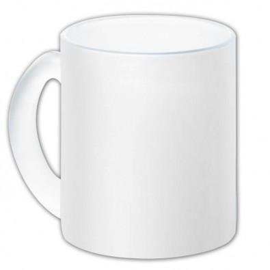Glas-Kaffeetasse, Weiß