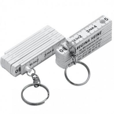 Schlüsselanhänger Maßstab Weiß