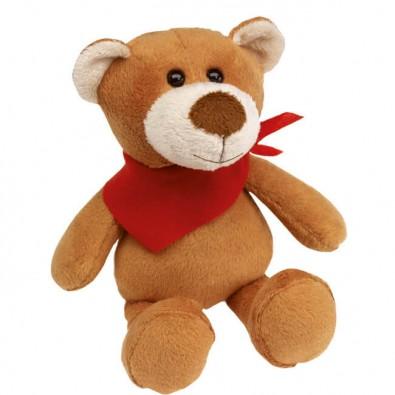 Plüsch-Tiere Fluffy Bär Halstuch Rot, Bär, Halstuch rot
