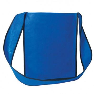 Vlies-Umhänge-Dokumententasche Blau