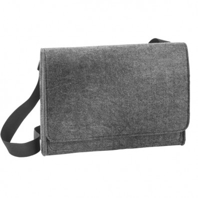 Filz-Shoulderbag, Dunkelgrau