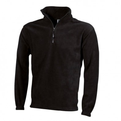 Original James & Nicholson Fleece-Sweatshirt Schwarz | M