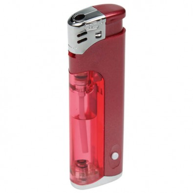 Piezo-LED-Feuerzeug Light  Fire, Rot