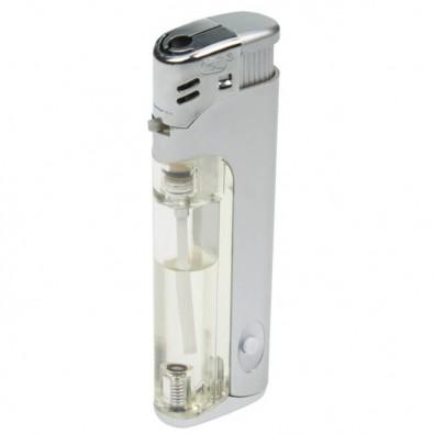 Piezo-LED-Feuerzeug Light  Fire, Silber