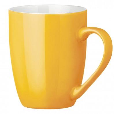 Tasse Gloria, Gelb/Weiß