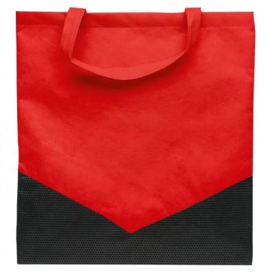 Vliestasche Arrow, Rot/Schwarz