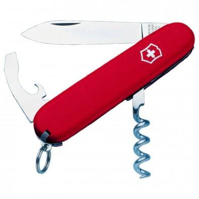 Original Victorinox Taschenmesser, Waiter, 9 Funktionen Rot