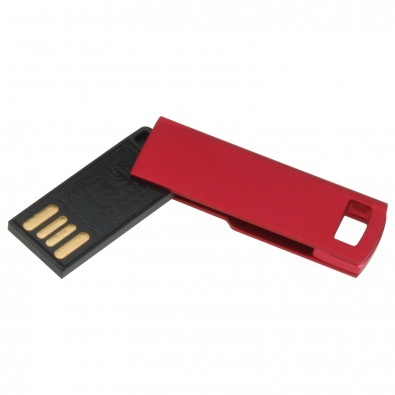 USB-Stick Mini-Twist, Rot, 8 GB