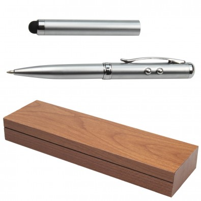 Multi-Touch-Pen 4 in 1, Silber