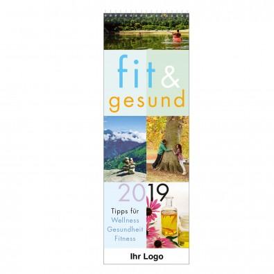 Streifenkalender fit & gesund 2019