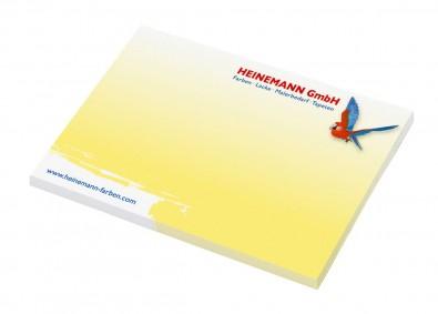 Haftnotizblock Basic Quality Bestseller, inkl.Digitaldruck
