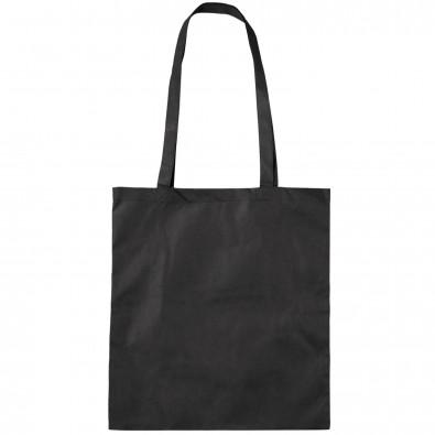 Vliestasche Textile mit langen Henkeln, Schwarz