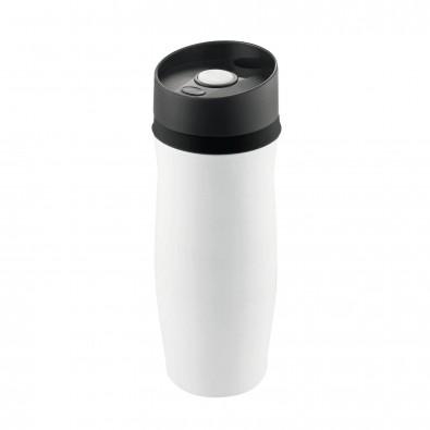 Vakuum-Thermobecher Metall Weiß/Schwarz