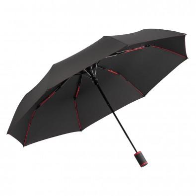Fare® Automatik-Taschenschirm Stylo, Schwarz/Rot