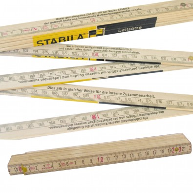 Original Stabila Handwerkermaßstab 400er Serie, Natur
